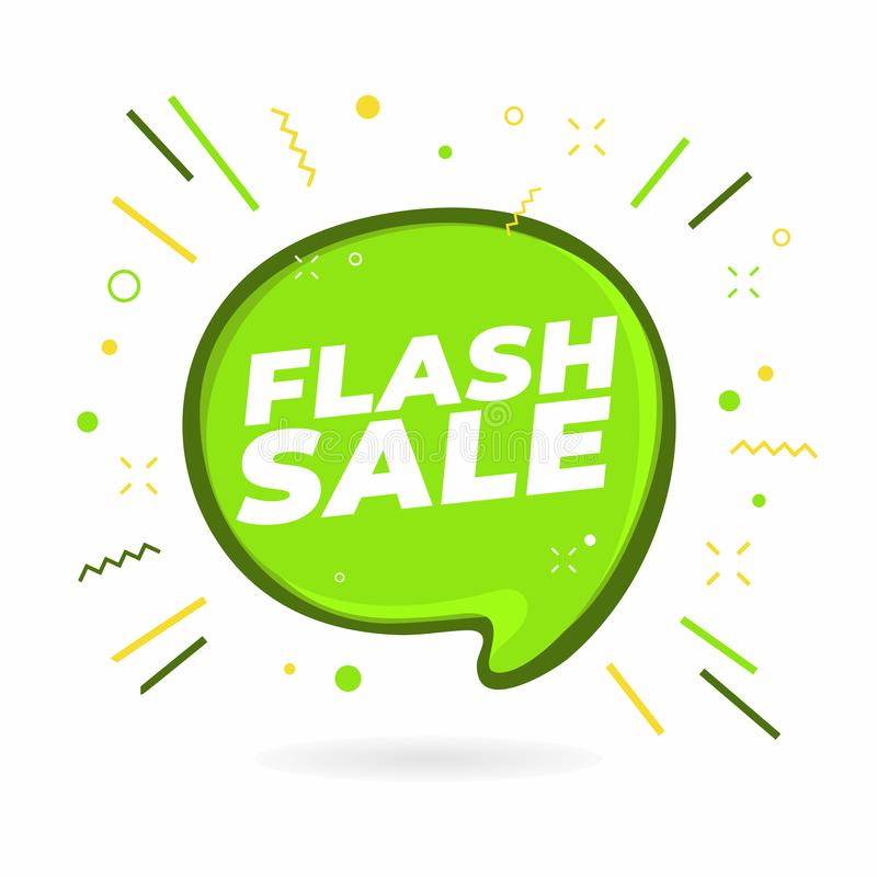 Flash Sale banner design template. stock illustration