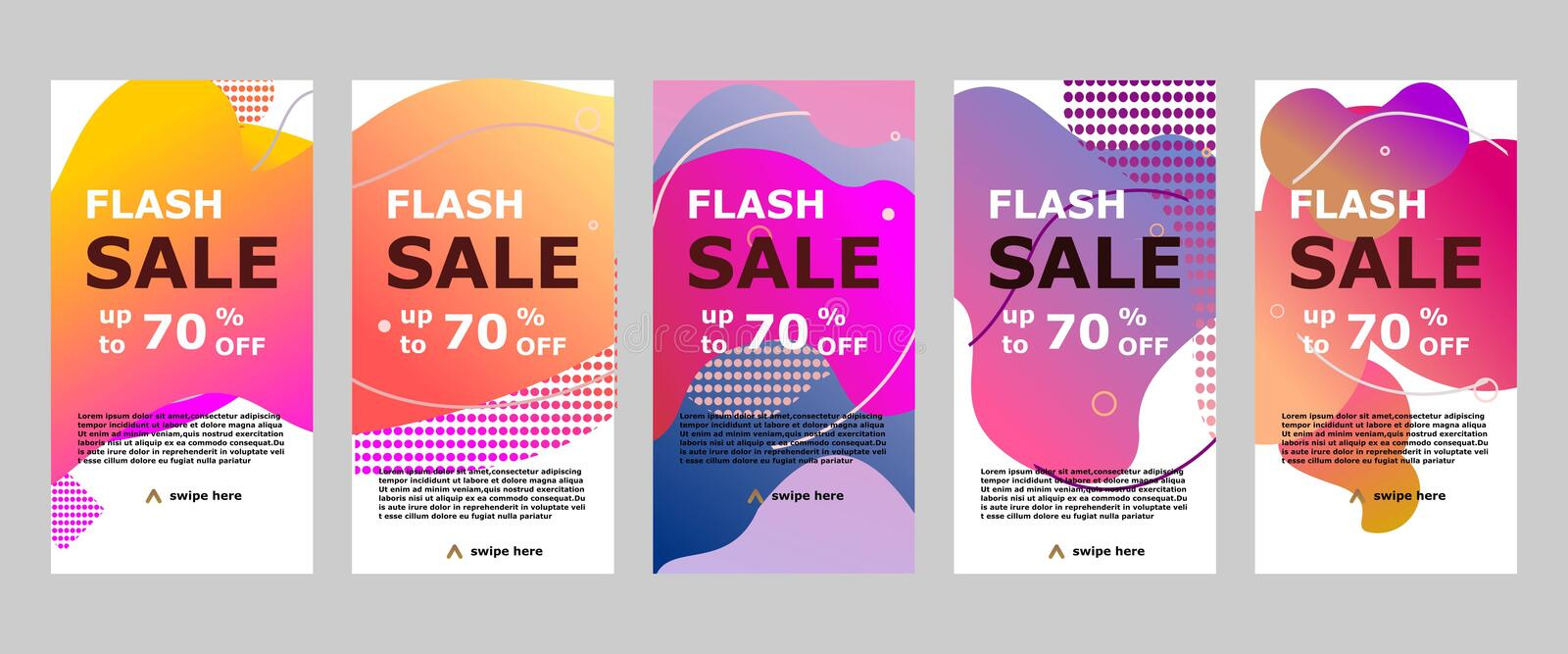 Flash sale banner mobile app and instagram royalty free stock photo