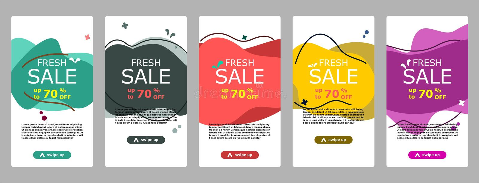 FFlash sale banner dynamic concept for mobile. Sale banner template design, Flash banner sale special offer set vector illustration