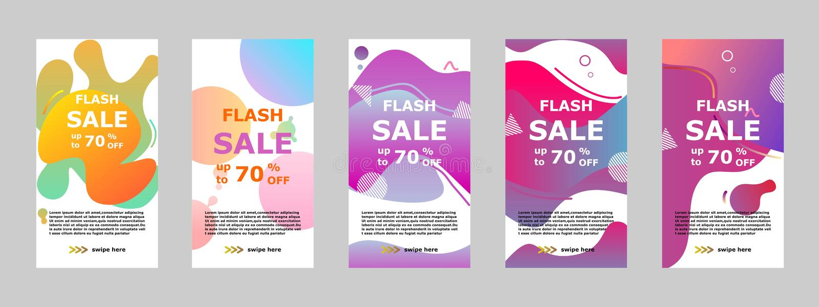 Flash sale banner mobile app and instagram stock photo