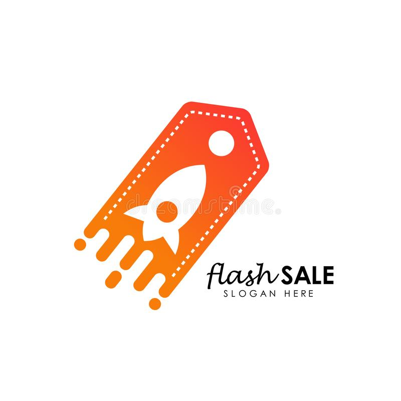 flash sale logo icon design template. flash shop logo design template royalty free illustration