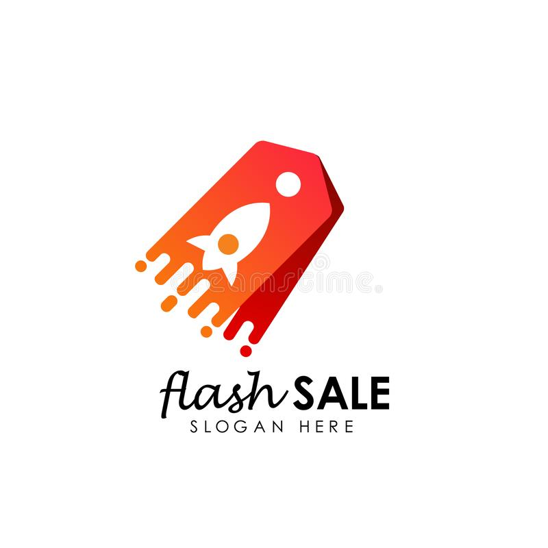 flash sale logo icon design template. flash shop logo designs template vector illustration