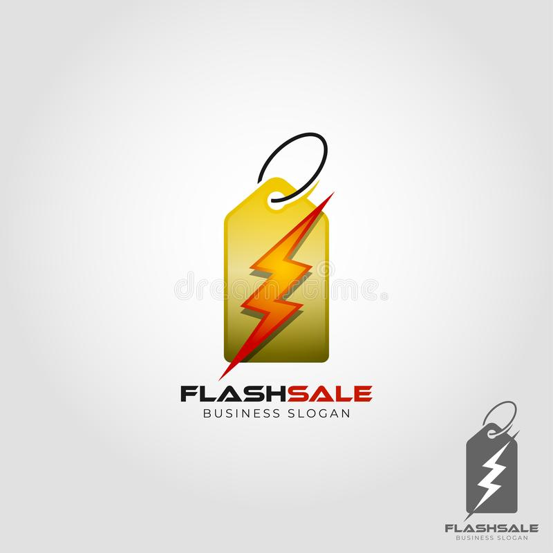 Flash Sale Logo Template royalty free illustration