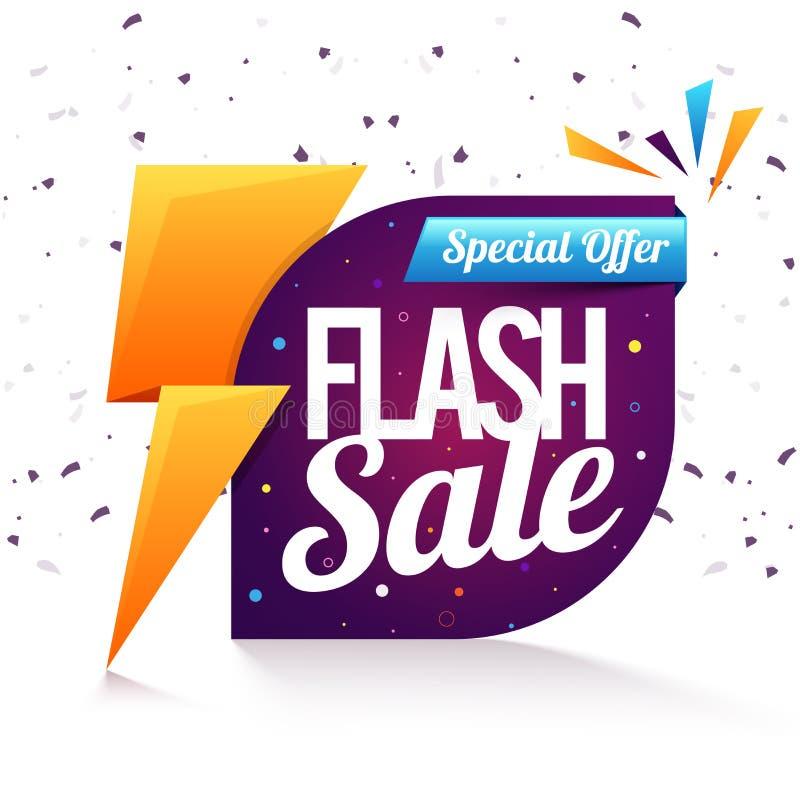 Flash Sale Poster, Banner or Flyer design. vector illustration