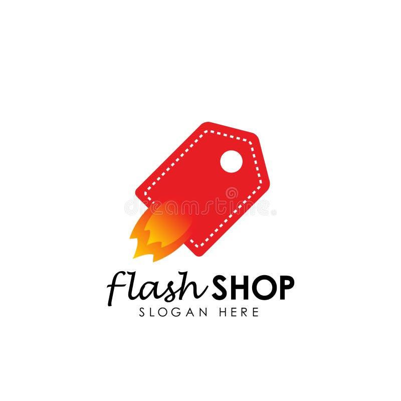 Flash shop logo design template. flash sale vector illustration. Flash shop logo designs template. flash sale vector illustration stock illustration