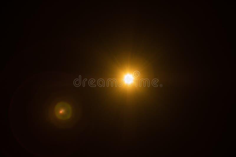 Flash spark black lens flare spotlight glow effect stock images