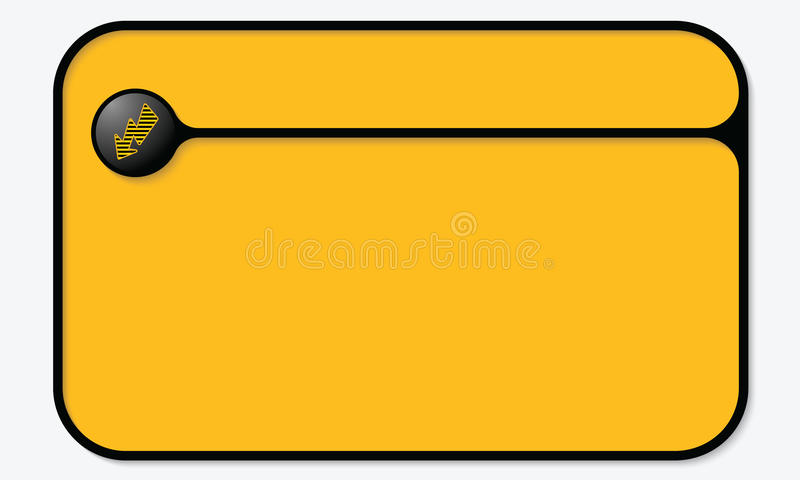 Flash symbol. Vector text box for your text with striped flash symbol royalty free illustration