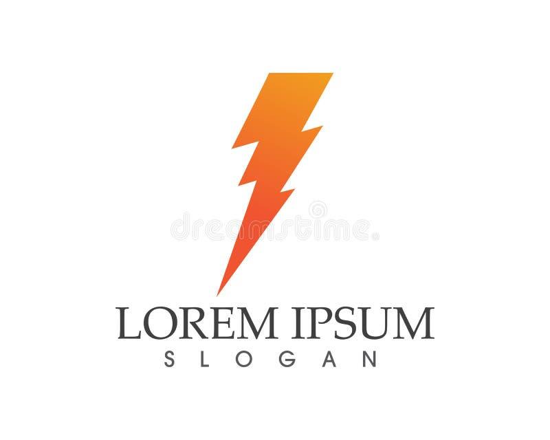 Flash thunderbolt lightning icon logo and symbols stock illustration