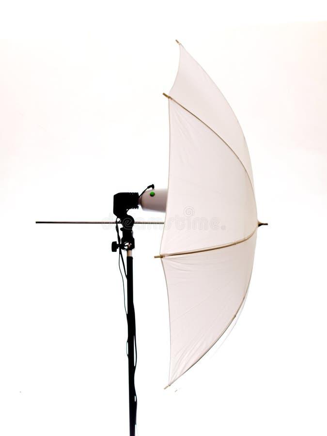 Flash with umbrella stock image