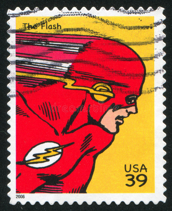 Flash. UNITED STATES - CIRCA 2006: stamp printed by United states, shows Flash, circa 2006 stock images