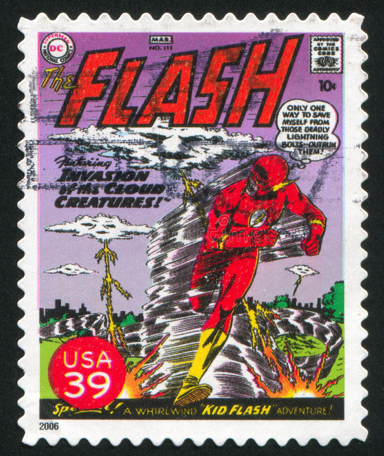 Flash. UNITED STATES - CIRCA 2006: stamp printed by United states, shows Flash, circa 2006 royalty free stock images