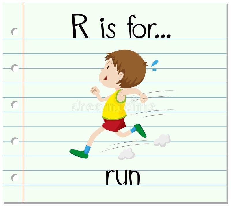 flashcard信件r是为奔跑