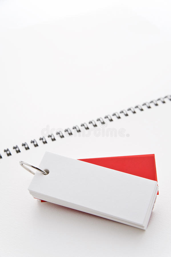 Flashcard. On white note royalty free stock photography