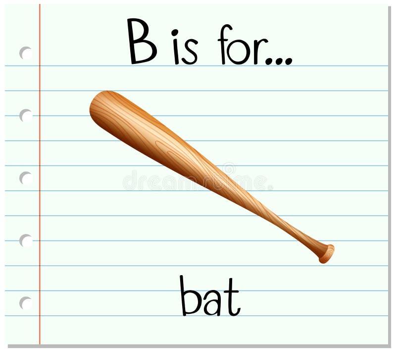Flashcard bokstav B är för slagträ royaltyfri illustrationer