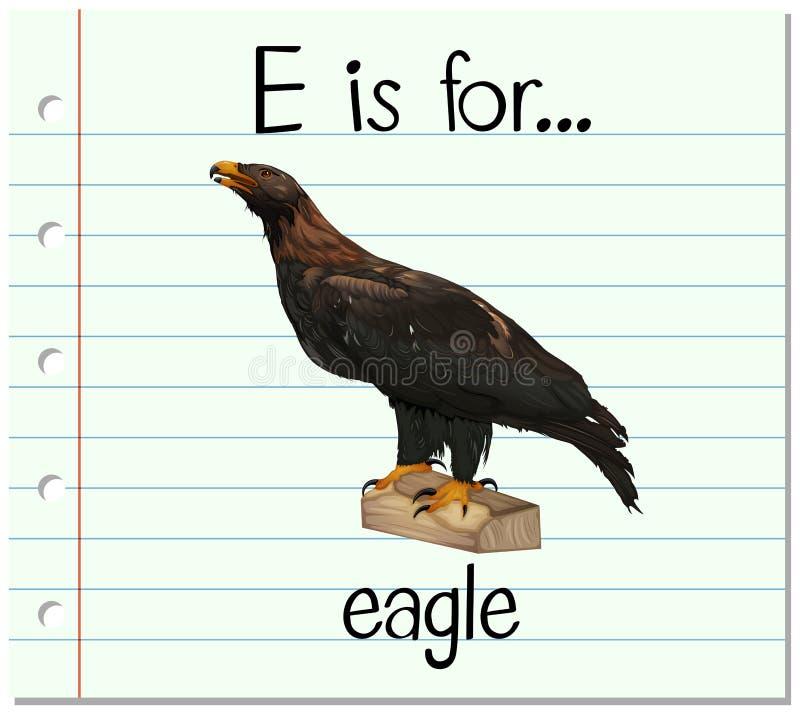 Flashcard bokstav E är för örn royaltyfri illustrationer
