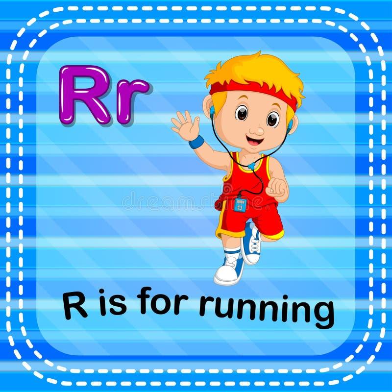 Flashcard bokstav R är för att köra vektor illustrationer