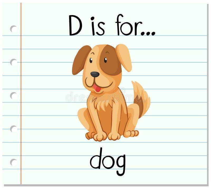 Flashcard-Buchstabe D Ist Für Hund Vektor Abbildung - Illustration ...