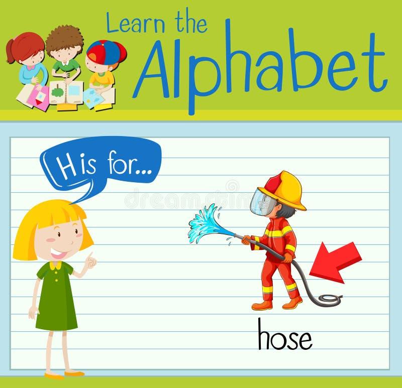 Flashcard-Buchstabe H ist für Schlauch stock abbildung