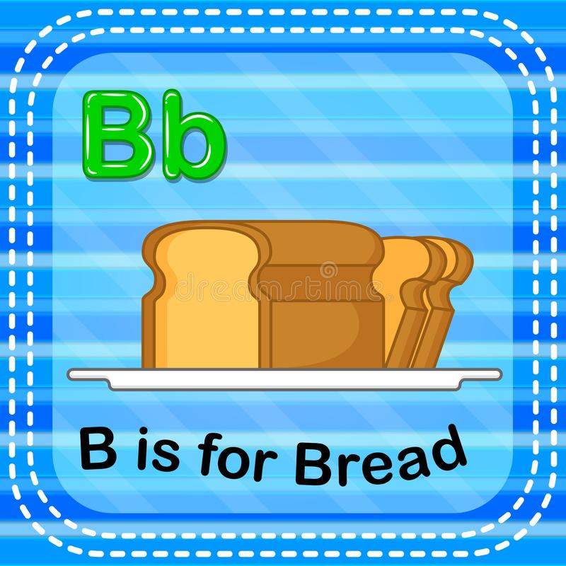Flashcard letter B is for bread royalty free illustration