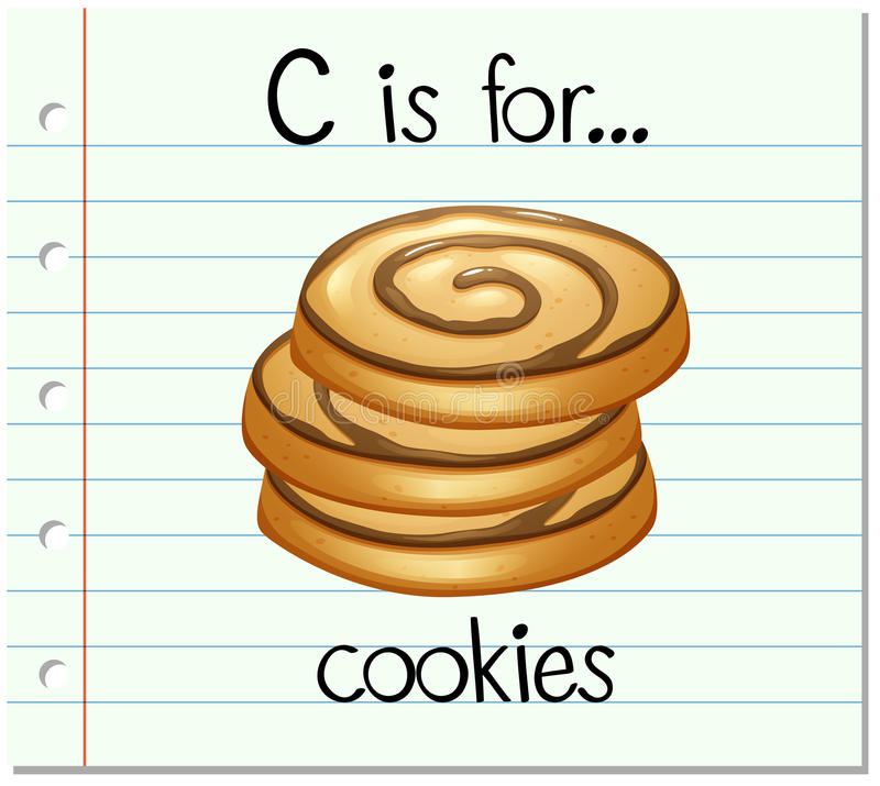 Flashcard letter C is for cookies vector illustration