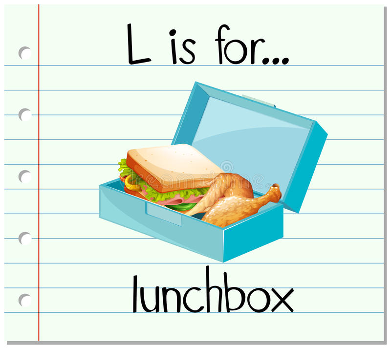 Flashcard letter L is for lunchbox royalty free illustration