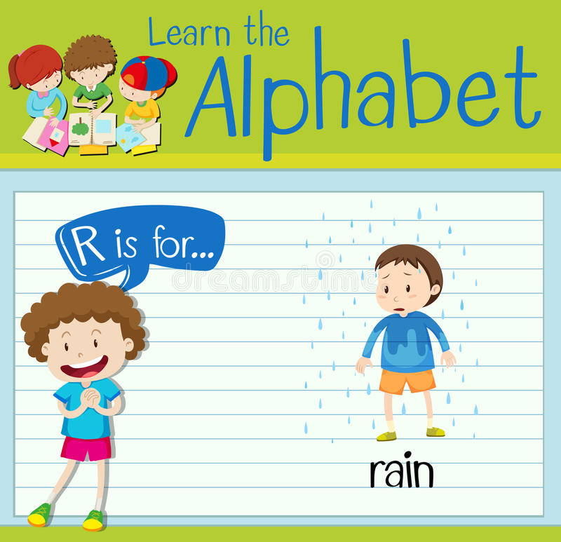 Free Flashcard Letter R Is For Rain Stock Images - 78707034