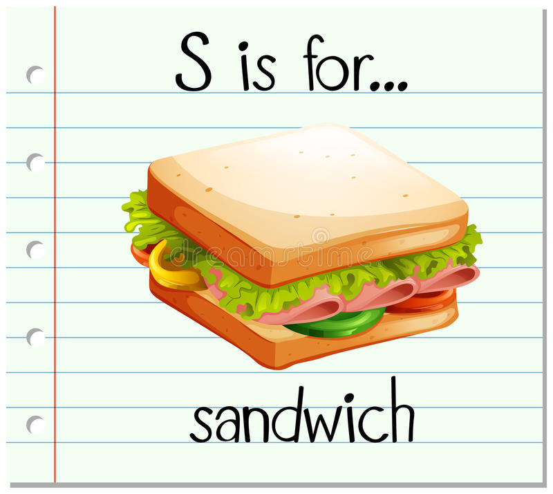 flashcard letter s is for sandwich stock vector Cafeteria Lunch Clip Art Lunch Time Clip Art