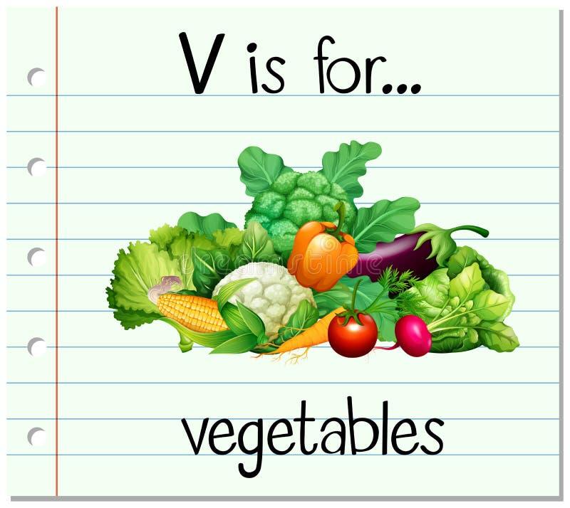 V Is For Vegetables Flashcard Letter V Is ...