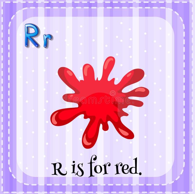 Flashcard list R royalty ilustracja