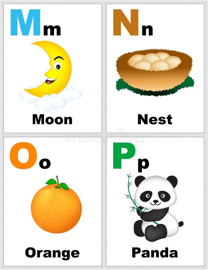 Flashcards di alfabeto illustrazione vettoriale
