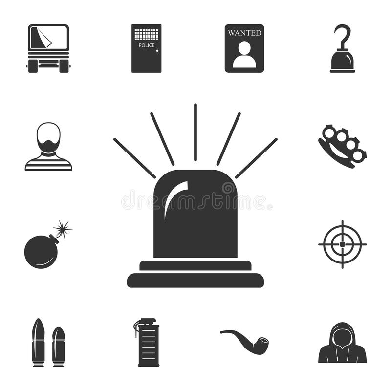 Flasher icon. Simple element illustration. Flasher symbol design from Crime collection set. Can be used for web and mobile. On white background royalty free illustration