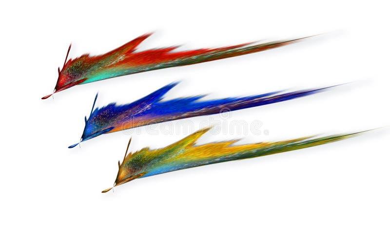 Flashes del color primario ilustración del vector