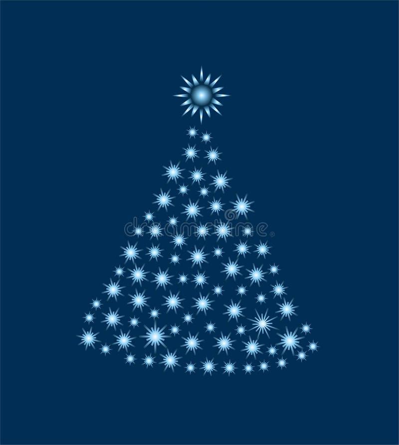 Flashing Christmas tree royalty free stock images