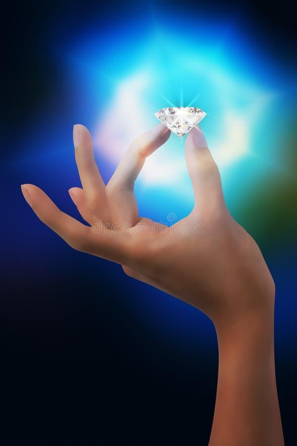 Flashing Diamond Royalty Free Stock Photography