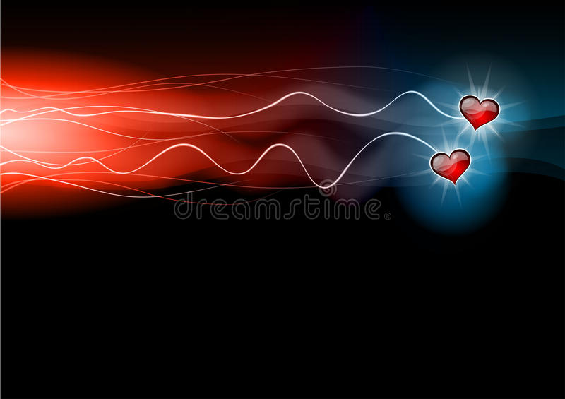 Download Flashing hearts stock vector. Image of beam, celebrate - 22786134