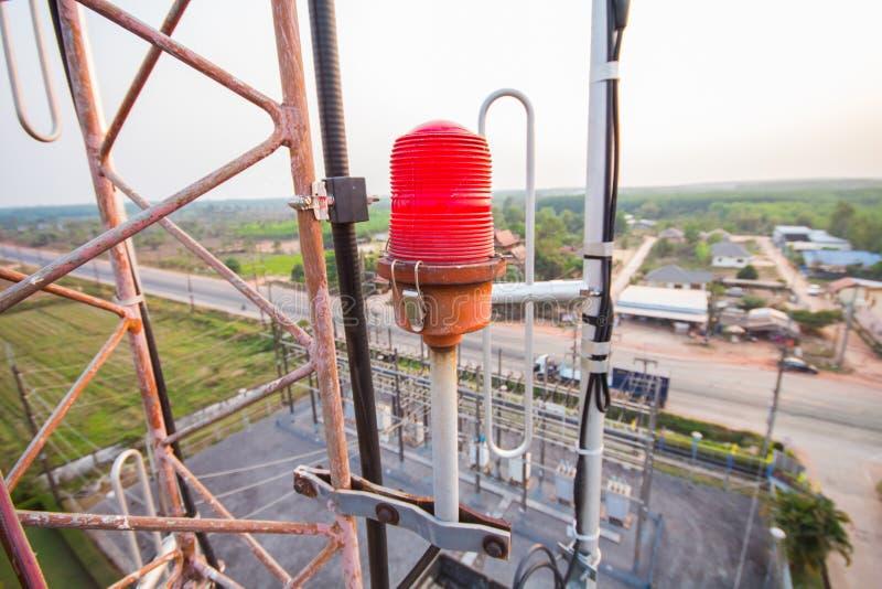 Download Flashing Light On The Radio Tower. Stock Photo - Image of safety, flashing: 39980192