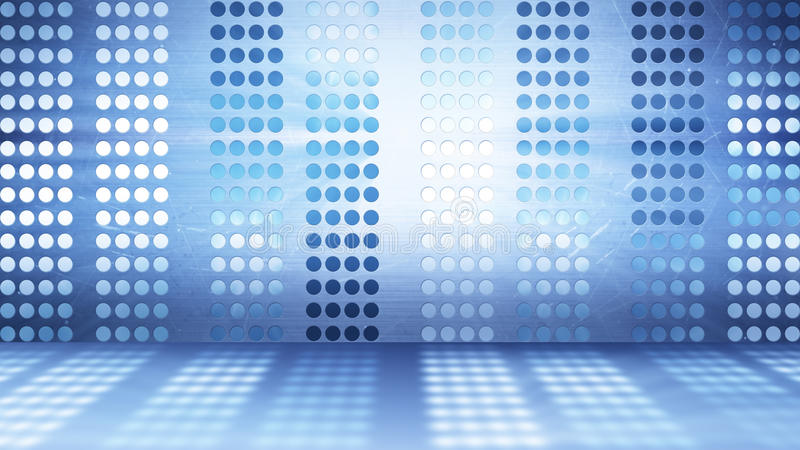 Flashing stage lights abstract background stock illustration