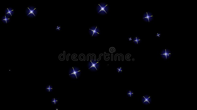 Flashing stars, starry sky, appear and disappear on a black background. Flashing stars, starry sky appear and disappear on a black background stock photos