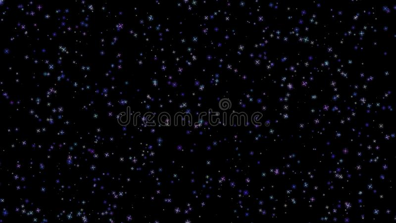 Flashing stars, starry sky, appear and disappear on a black background. Flashing stars, starry sky appear and disappear on a black background royalty free stock photo