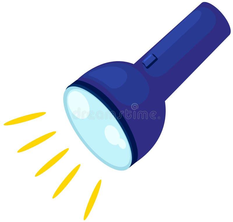 Flashlight. Illustration of isolated flashlight on white background vector illustration