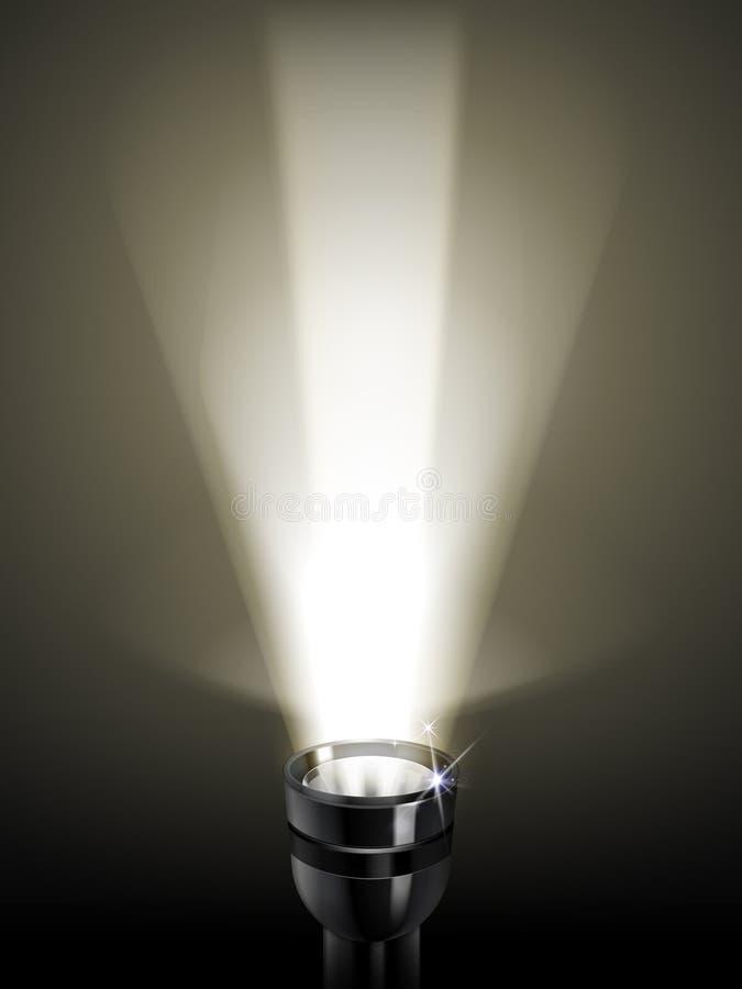 Flashlight 3D illustration stock illustration