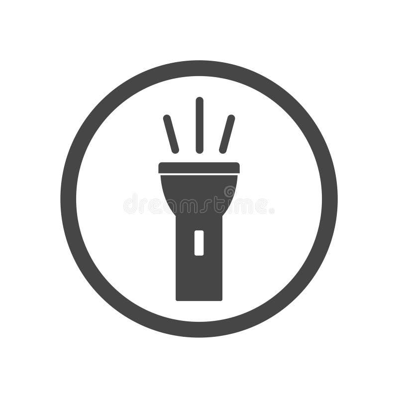 Flashlight icon royalty free illustration