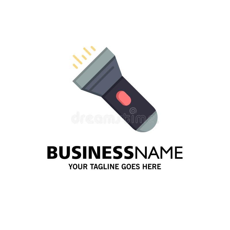 Flashlight, Light, Torch, Flash Business Logo Template. Flat Color vector illustration
