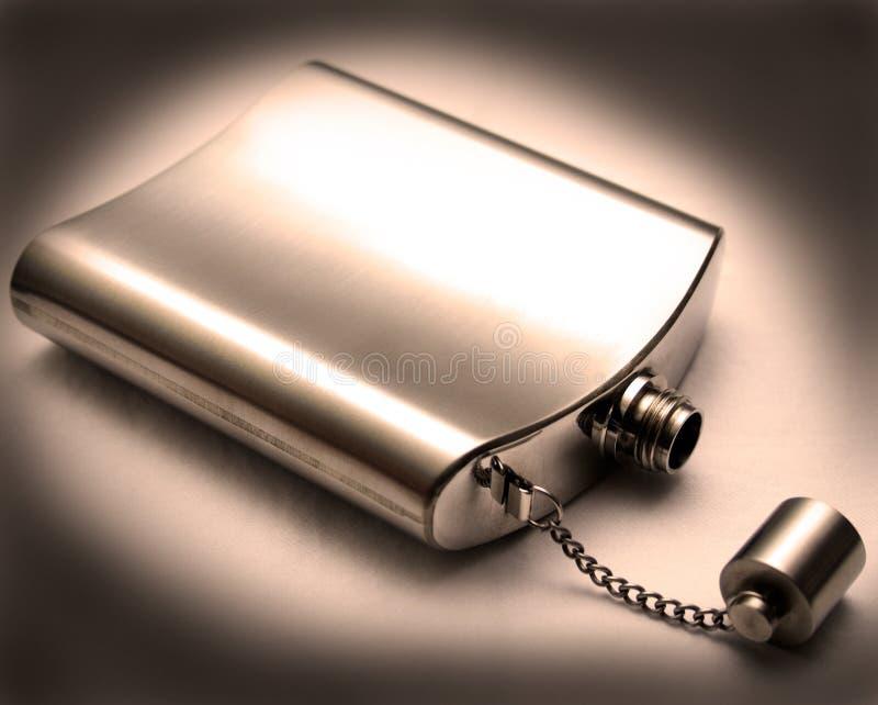 Download Flask stock image. Image of chrome, liquor, alcohol, metal - 6747551