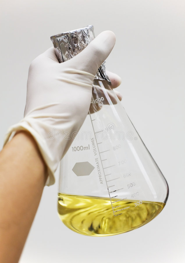 Download Flask With Growth Media Held Stock Photo - Image of chemistry, flask: 670566