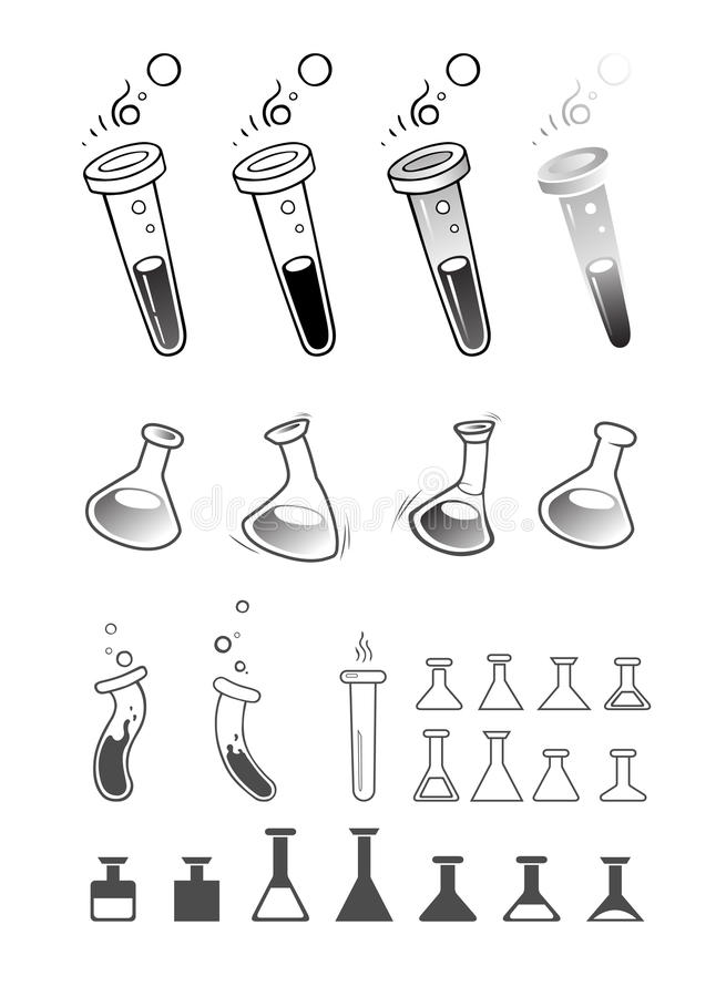 Flask icon set royalty free stock images