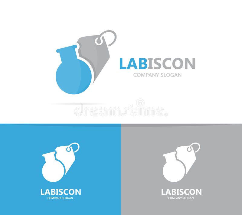 Flask And Tag Logo Combination. Laboratory And Shop Symbol Or Icon ...
