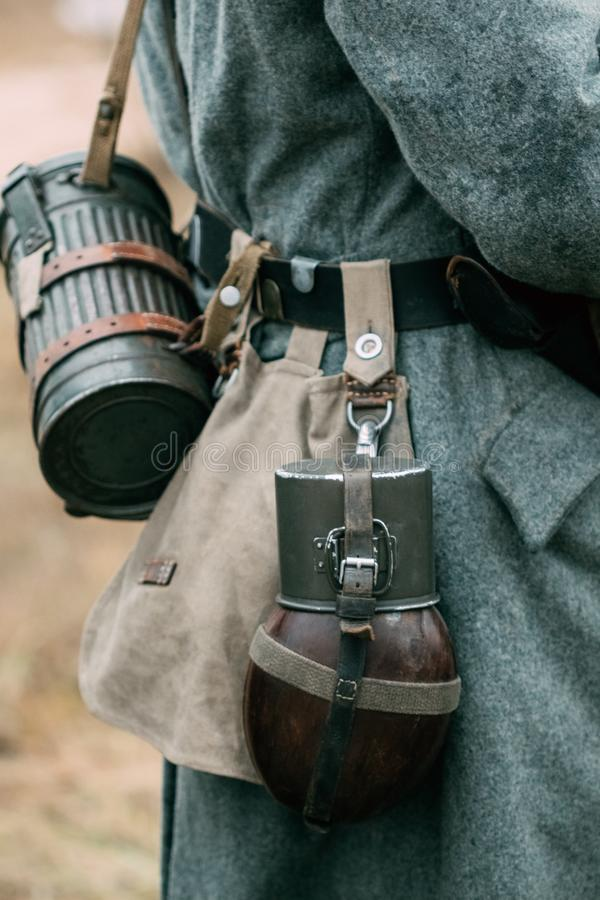 Outfit of a German soldier of the Second World War royalty free stock photo