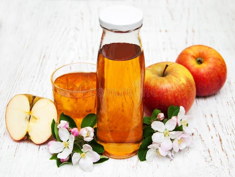 Flaska av äppelmust royaltyfri bild