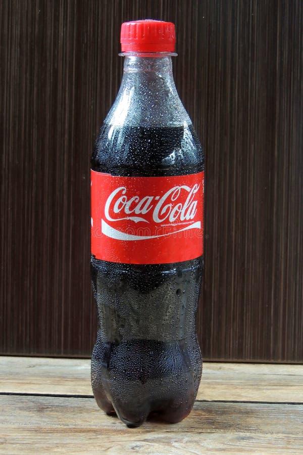 Flaska av cocaen - cola royaltyfri fotografi